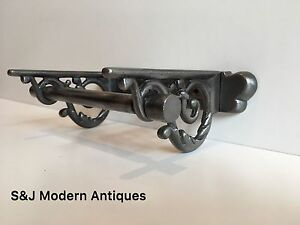 Vintage Toilet Roll Holder Cast Iron Victorian Edwardian Novelty Silver Grey Old