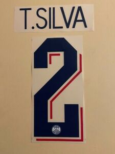 FLOCAGE Thiago SILVA #6 Paris Third 2019-2020 Nameset. Champions League
