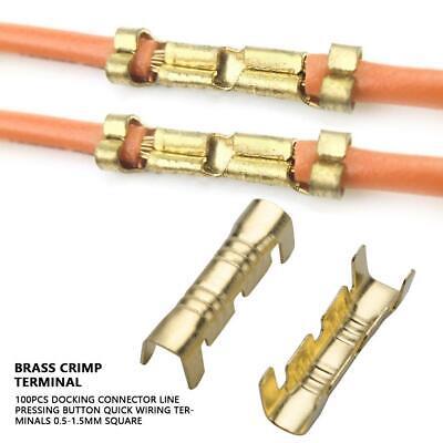 100Pcs Wiring Docking Connector Line Pressing Quick Connect Crimp Terminals PR