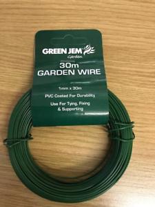 Jardin 30 m Fil 1 mm Revêtement PVC utiliser pour contrôler la Fixation Plantes grimpantes et arbustes