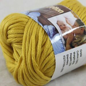 1BallX50g-Special-Thick-Worsted-100-Cotton-HAND-Knitting-Yarn-48-Gold