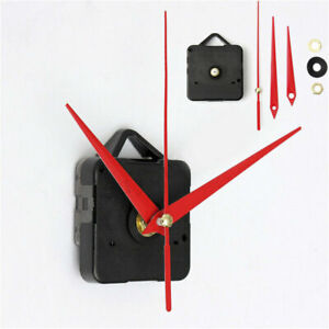 Clock-Quartz-Movement-Mechanism-Long-Red-Spindle-Hand-Wall-Replace-Repair-Parts