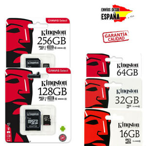 TARJETAS-DE-MEMORIA-KINGSTON-MICRO-SD-CLASE-10-16GB-32GB-64GB-128GB-256GB
