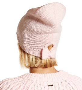 137bfaf56fef3 Image is loading Kate-Spade-New-York-Hat-Gathered-Bow-Beanie-