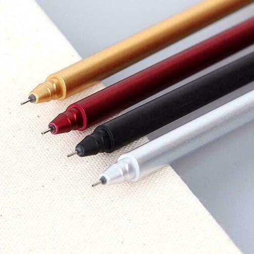 5 colors 0.5mm Metal Gel Pens Office School Supplies Student stationery T2C4
