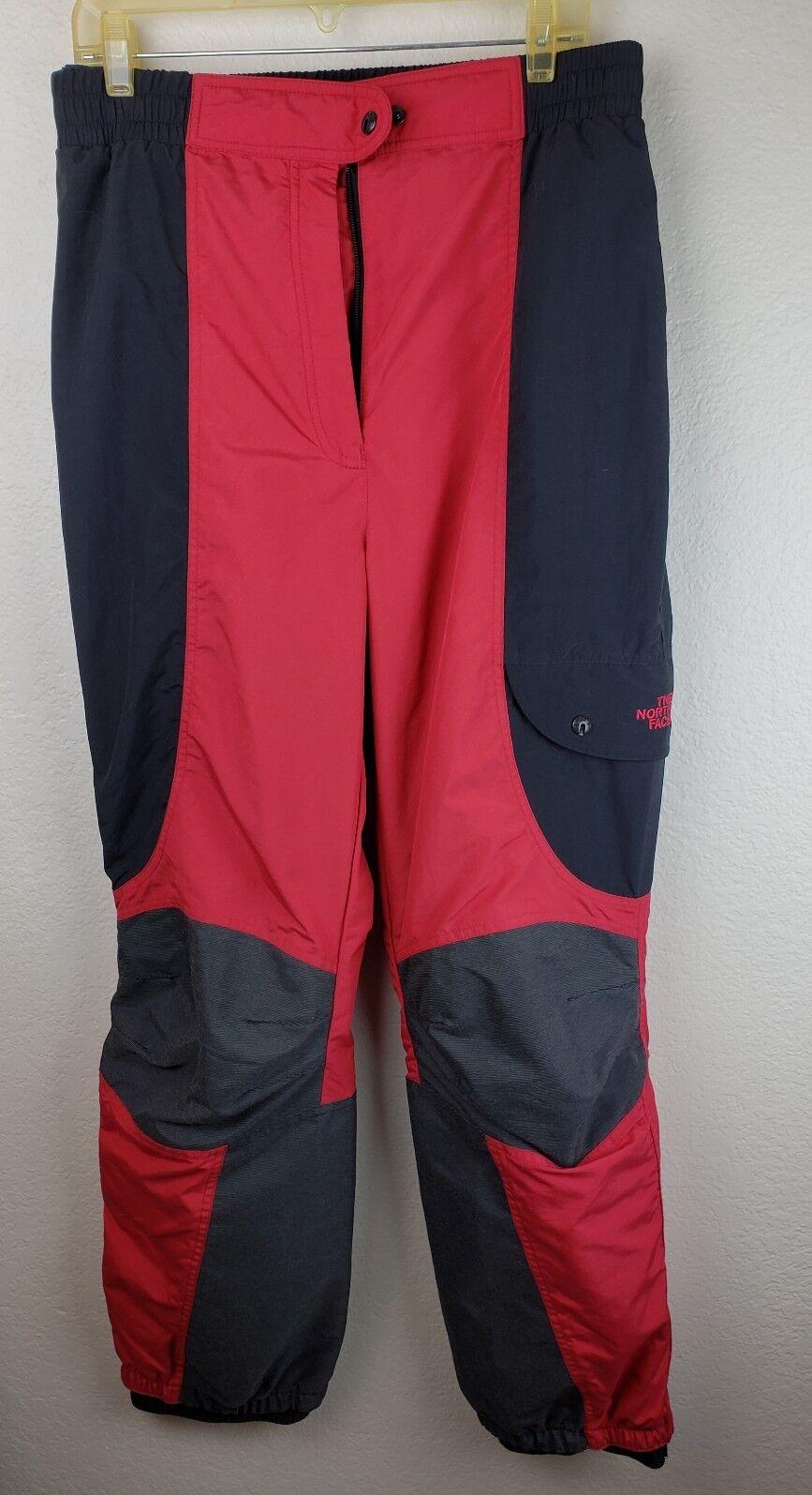 The North Face Pantalones  De Esquí Snowboard Negro Rojo Talla 14 Nailon Poliéster Mujer Dama  barato y de alta calidad