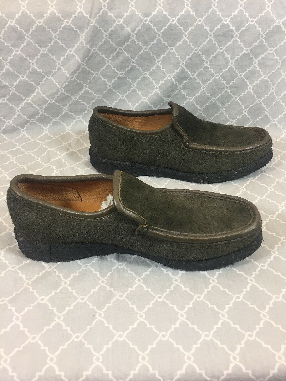 ISSEY MIYAKE MEN Slip On Green Suede shoes Size 8 1 2