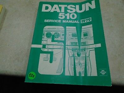 Datsun 510 Nissan Used Service Manual Vp 1979 Vp Cm330 Ebay border=