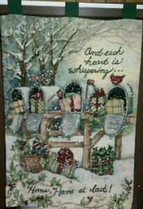 Christmas Tapestry Wall Hanging T. Hood Each Heart ...