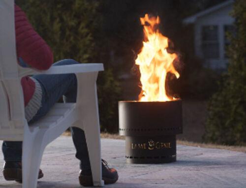 Flame Genie Fire Pit Smokeless Firepit Smoke Free Fire Bowl Pellet Patio Heater