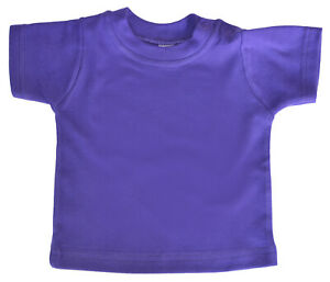 SALE-ITEM-Pack-of-5-Purple-Cotton-Baby-T-shirts-Shoulder-Poppers-Size-2-3-Years