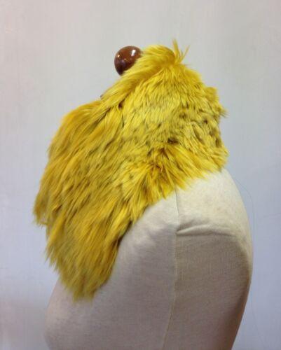COLLO PELLICCIA di ALPACA giallo FOURRURE de renard FUR fox lana whool cachemire