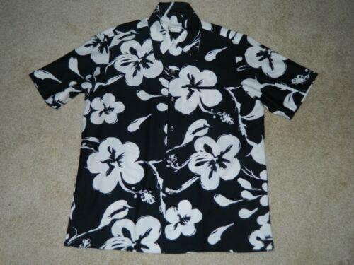 Vtg 1950s Hawaiian Shirt REYN'S Menswear Black &