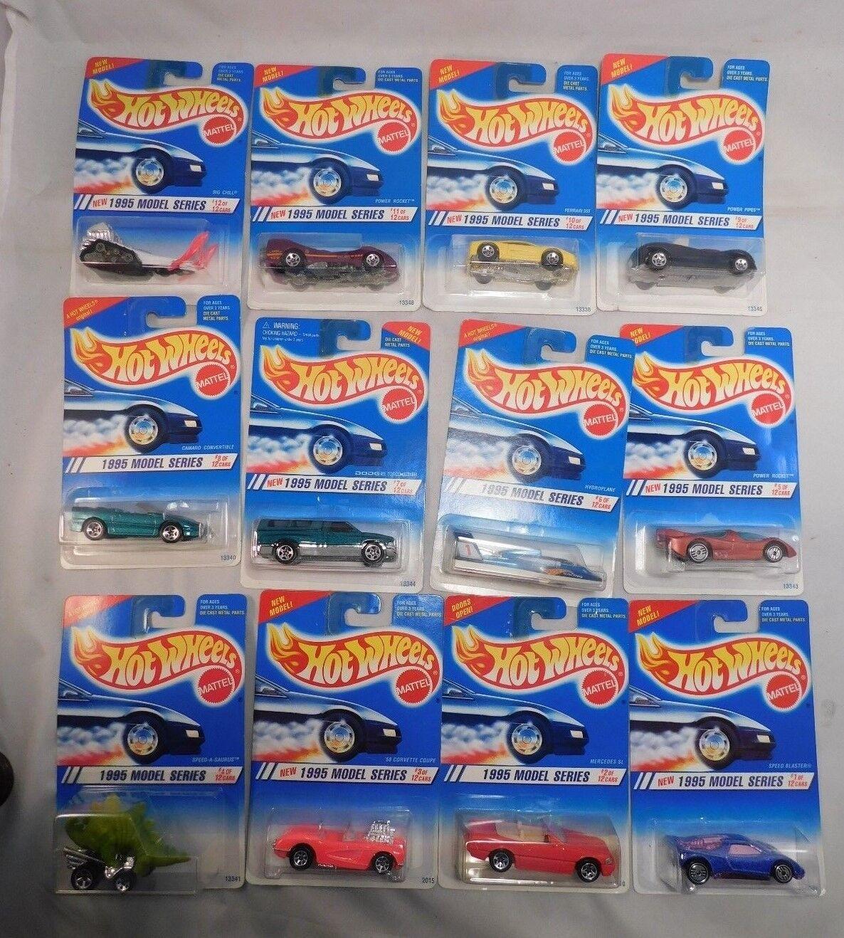 Lot of 12 , Mattel Hot Wheels 1995 Model Series  1 64 Scale Vehicles MIB