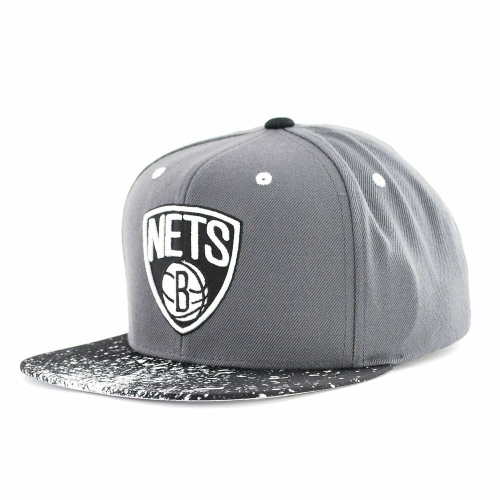 Brand New Mitchell & Ness Brooklyn Nets SnapBack One Fit Size Fit One All NS83Z 2af2a2