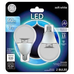Ge Led 60watt A15 Cac Ceiling Fan Light Bulb 2pk Soft