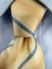 Men's Banana Republic Beige Blue Striped Silk Tie Made in Italy 21249