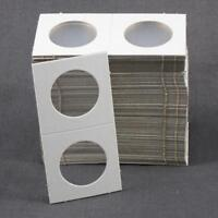 100 Cardboard 1.5x1.5 Coin Holder Mylar Flips for Quarters 1 1/2 x 1 1/2