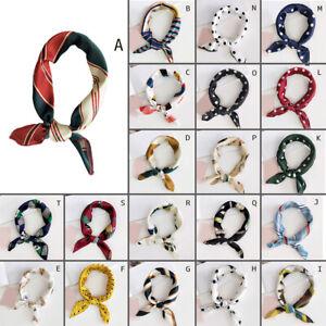 Elegant-Women-Silk-Head-Neck-Satin-Scarf-DIY-Hair-Tie-Band-Small-Square-Scarf