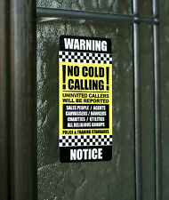 No Canvasser Hawkers Religious Groups Sales People No Cold Callers Vinyl Sign-14