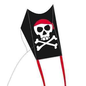 Drache Pirat für Kinder fliegt leicht Kite Mini Sled 40cm Drachen Windspiel NEU