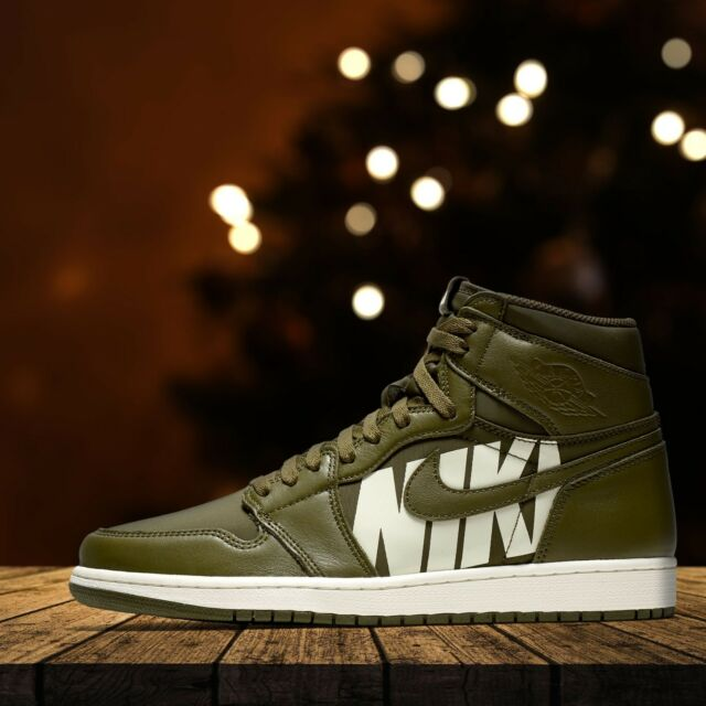 9f39591591d Jordan Retro 1 Olive Canvas Size 11 *100 Autnentic* for sale online ...