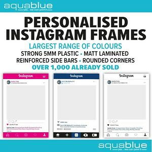 Personalised Instagram Frames Photo Prop Selfie Frame Instaframe
