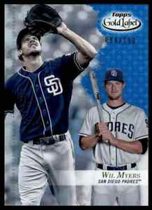 2017-TOPPS-GOLDEN-LABEL-BLUE-WIL-MYERS-94-150-SAN-DIEGO-PADRES-73-PARALLEL