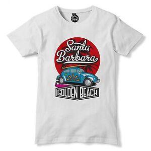 2250ee757d Image is loading Santa-Barbara-California-beetle-Surfing-T-Shirt-Mens-