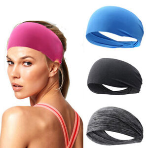 Elastic Headband Yoga Running Sports Gym Headwrap Sweatband Hair Band NEW