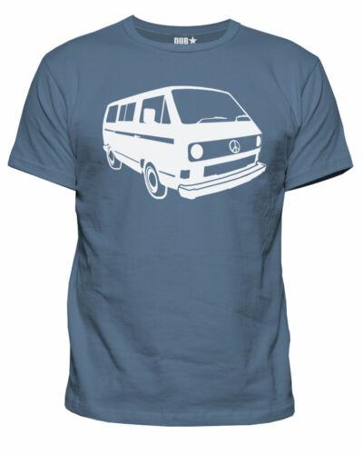 Homme DUBSTAR paix Campervan Bus T3 T25 Vanagon Rétro Compensé T-Shirt Neuf S-XXL