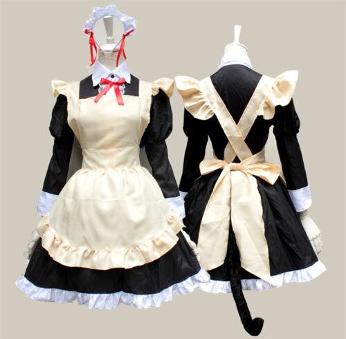 Ore No Imouto Gokou Ruri Kuro Neko Black Cat Maid Cosplay Costume 2 Types