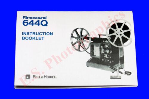 Bell /& Howell Filmosound proyector de cine de sonido 644Q 16mm libro de instrucciones