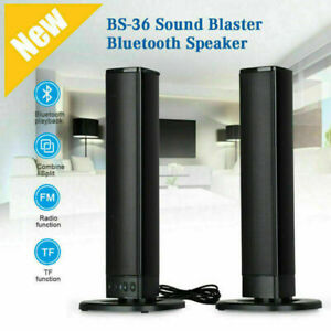 Portable Surround Sound Bar System Wireless Subwoofer TV Home Theater Speaker US