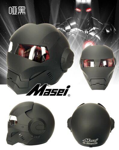 MASEI 610 IRONMAN Matte Retro Half Open Face Helmet Motorcycle Casque Motor Hot