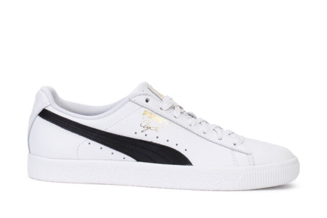 outlet store 2200d 86519 Puma Men's Sneakers Clyde Core L Foil White Black Team Gold 364669-01