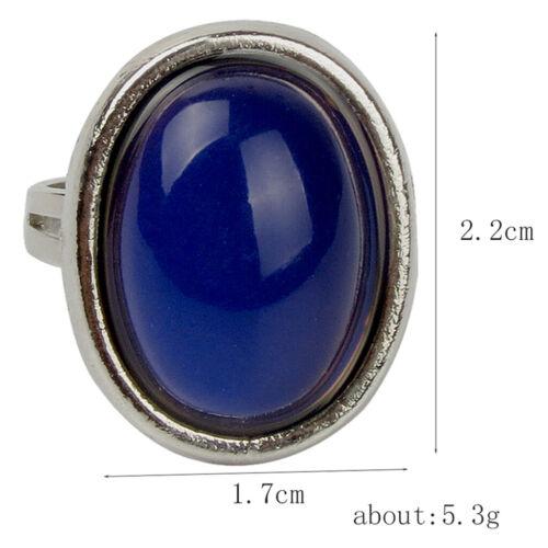 1 Stück Stimmungsringe Farbwechselring emotionaler Oval Ring Einstellbare