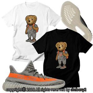 NEW-CUSTOM-T-SHIRT-MATCHING-adidas-YEEZY-Boost-350-v2-GRAY-AD-Y-2-1