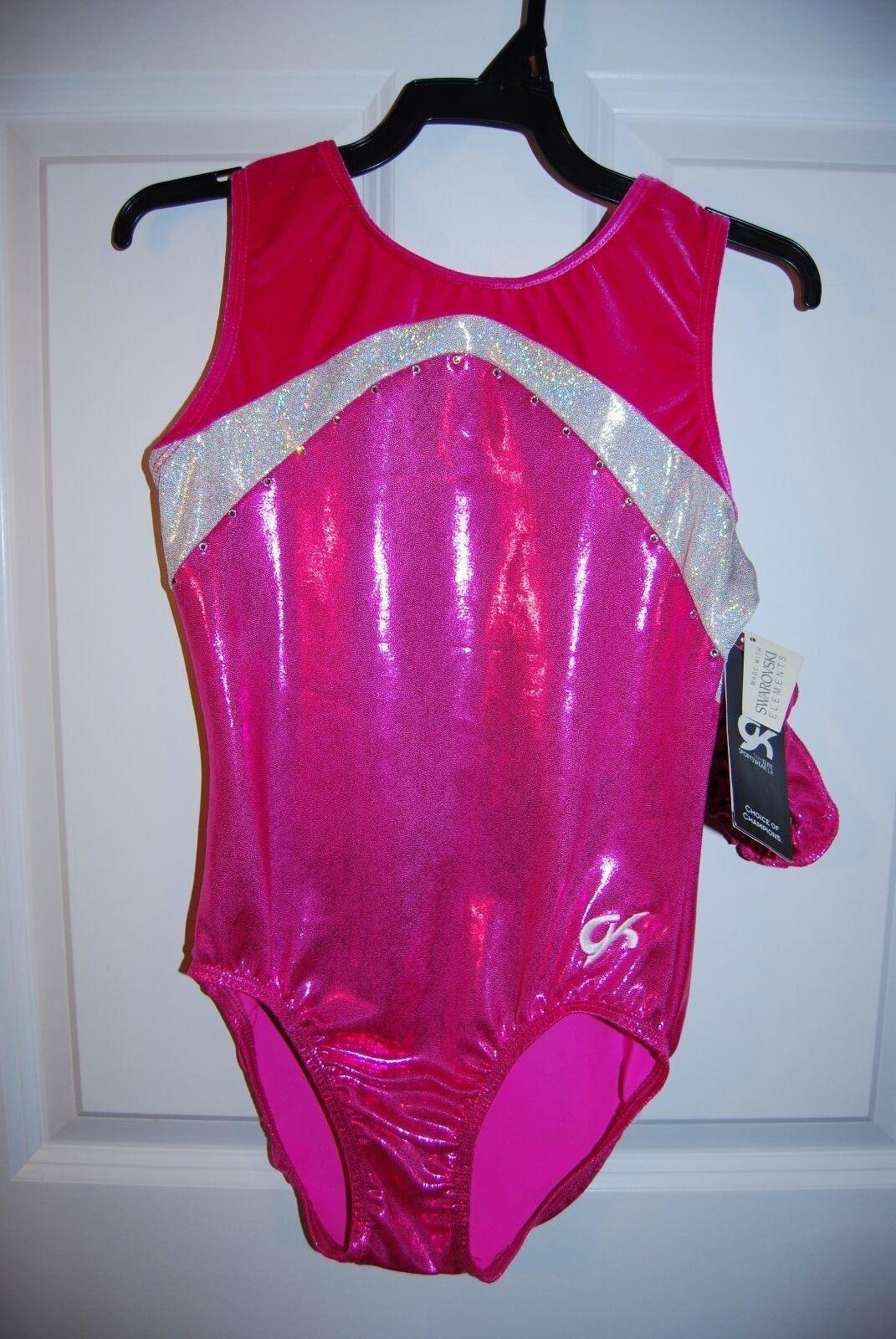 GK  Elite Gymnastics Leotard - Adult Small - Berry White Sparkle  here has the latest