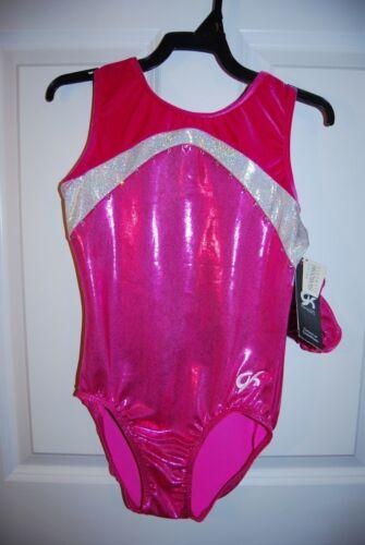 Adult Small Details about  /GK Elite Gymnastics Leotard Berry//White Sparkle