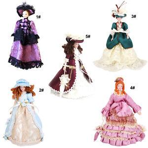 1-12-Puppenhaus-Miniatur-Porzellan-Puppe-Mittelalter-Victoria-Lady-Frauen