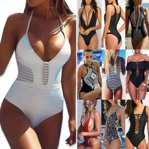 ecee7c6065 Women Push Up Bikini Set Brazilian One-Piece Bandage Ladies Monokini ...