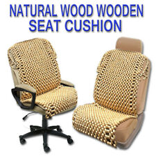 Zone Tech Natural Beige Wooden Beaded Car Seat Chair Cover Massage Cushion