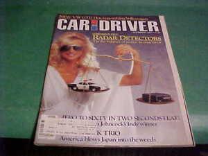 NOVEMBER 1982 CAR & DRIVER MAGAZINE RADAR DETECTORS