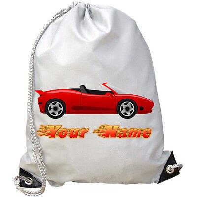 Red Sports Car Personalizzata Palestra / Nuoto / Pe Bag-grande Regalo & Denominato Troppo-mostra Il Titolo Originale In Vendita