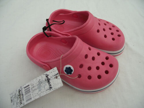 BNWT Little Girls Sz 7 Rivers Doghouse Brand Pretty Watermelon Clog Beach Shoes