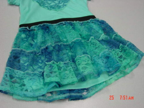 NWOT Infant Toddler Girls Blue Dress Ruffled Layered Lace New UNUSED