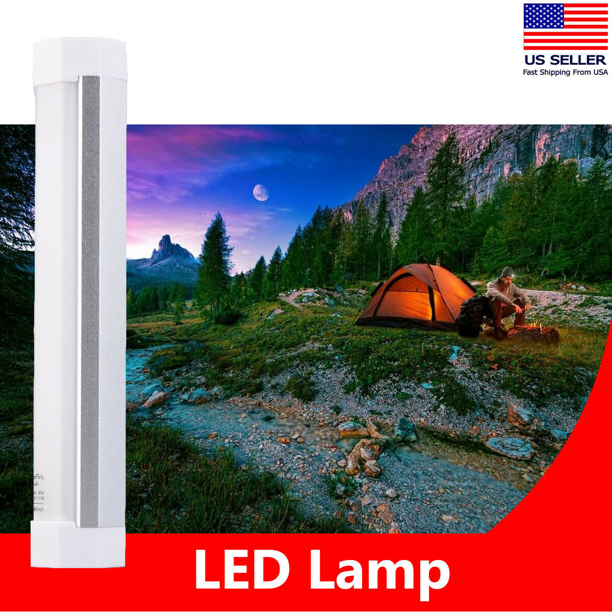 Details about  /USB LED Rechargeable Portable Lamp Solar Power Tent Light Outdoor Camping Hiking