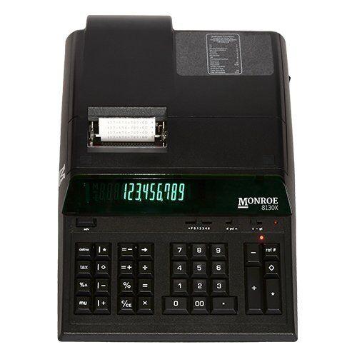 Monroe 8130XB 8130x Black Entry Level Heavy-duty Calc