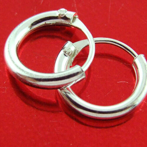 Sleeper Hoop Earrings Real 925 Sterling Silver Girls Kids Baby Small Size 7mm